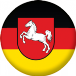 Lower Saxony State Flag 25mm Keyring